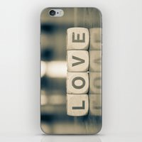 Love Scrabble iPhone & iPod Skin