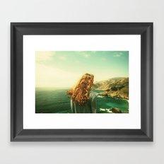 Girl on the Beach Framed Art Print
