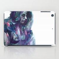 Melancholy Mood Portrait iPad Case