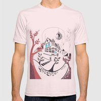 Round Tree House Mens Fitted Tee Light Pink SMALL