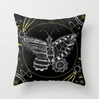 Space Butterfly Throw Pillow