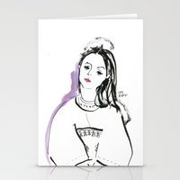 Mary - Girl in Marker and Gouache Stationery Cards