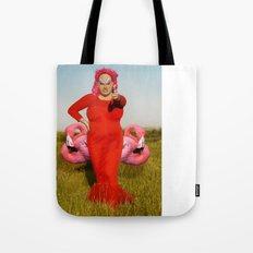 Divine, Pink Flamingos Tote Bag