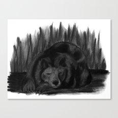 Charcoal Bear Canvas Print
