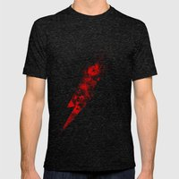 Lightning Chase Mens Fitted Tee Tri-Black SMALL