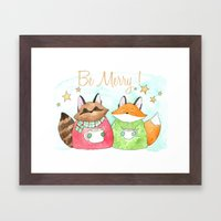 Be Merry! Coffee, Cocoa,… Framed Art Print
