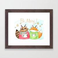 Be Merry! Coffee, cocoa, tea lovers print Framed Art Print