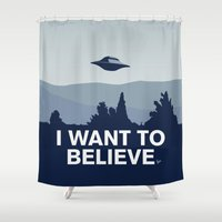 My X-files: I want to believe poster Shower Curtain
