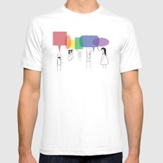Talk of the Town Mens Fitted Tee White SMALL