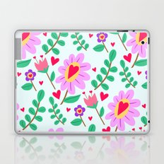 flowers and hearts Laptop & iPad Skin
