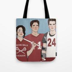 Scott McCall/Stiles Stilinski/Kira Yukimura Lacrosse Tote Bag