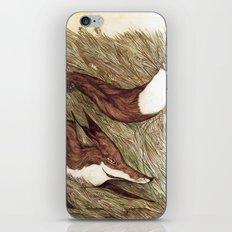 La Ruse du renard (The Sneaky Red Fox) iPhone & iPod Skin