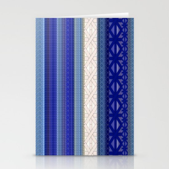 Blue  Stationery Card