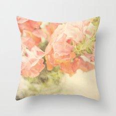 Peach bunch Throw Pillow