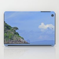 Long boat along the coast iPad Case