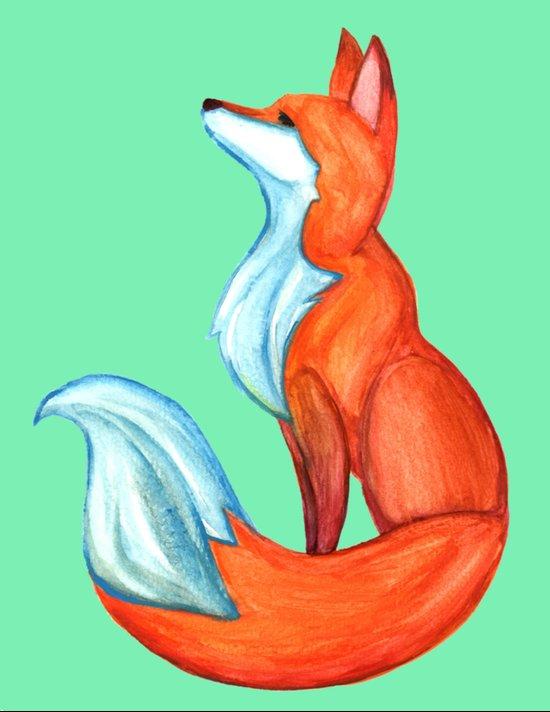 Fox Tale Art Print