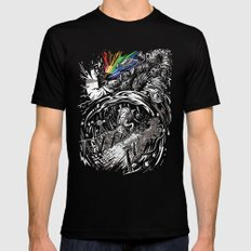 Dark Side of the Rainbow SMALL Black Mens Fitted Tee
