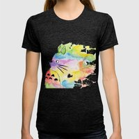 My Rainbow Totoro Womens Fitted Tee Tri-Black SMALL