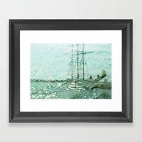 So We Beat On, Boats Aga… Framed Art Print