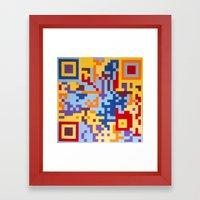 Number Three Multicolour… Framed Art Print