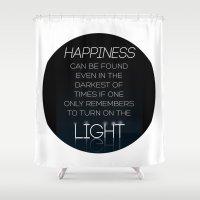 Harry Potter Albus Dumbledore Quote Shower Curtain