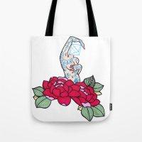 Pin-up And Roses Tote Bag