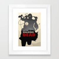 Daryl Dixon - Black and White Framed Art Print