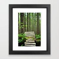 Bike Trail, BC Framed Art Print