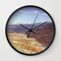Autumnal colour on the Honister Pass. Cumbria, UK. (Shot on film). Wall Clock