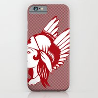 iPhone & iPod Case featuring Angel of Mercy, Traditional American Tattoo Design by Adam Metzner