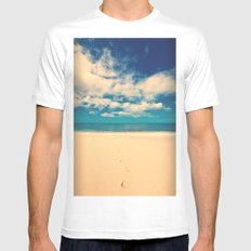 Footprints in the Sand Mens Fitted Tee White SMALL