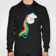 Fat Unicorn On Rainbow J… Hoody