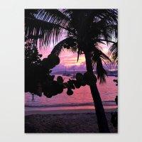 Pink Sunset Simmer Canvas Print