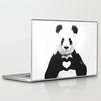 panda Laptop & iPad Skins featuring All you need is love by Balazs Solti