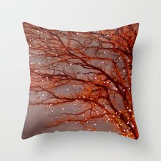 Magical In Red Throw Pillow