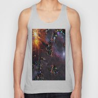Triangles Space Unisex Tank Top
