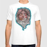 Mascaron Mens Fitted Tee White SMALL