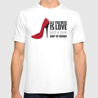 All you need is love! Mens Fitted Tee White SMALL