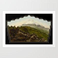 Shattered mountain Art Print