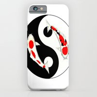 iPhone & iPod Case featuring Koi Kohaku and Taisho Sanke Yin Yang by  Gordon Lavender