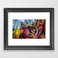 Rinocerontes Framed Art Print