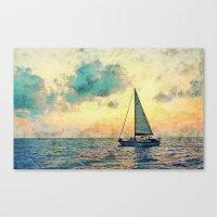 Sailing Along Canvas Print