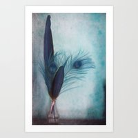 Peacock Blue Art Print