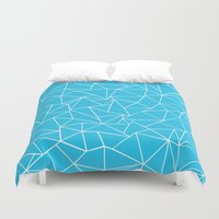Ab Outline Electric Duvet Cover