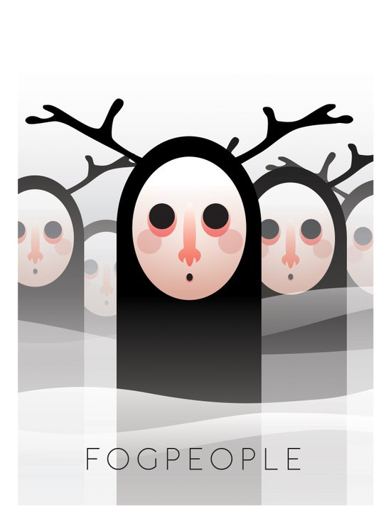 Fog people Art Print