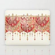 Royal Red Art Deco Doubl… Laptop & iPad Skin