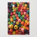 Wood Beads Canvas Print