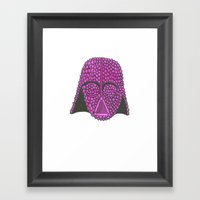 Darth Raspberry Framed Art Print