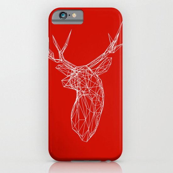 3D Stag Trophey Head Wire Frame iPhone & iPod Case