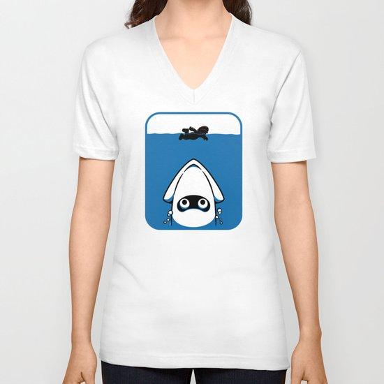 The Great White Blooper V-neck T-shirt